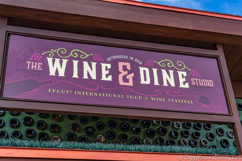 sign Wine and Dine Studio 2019 Epcot Food and Wine Festival