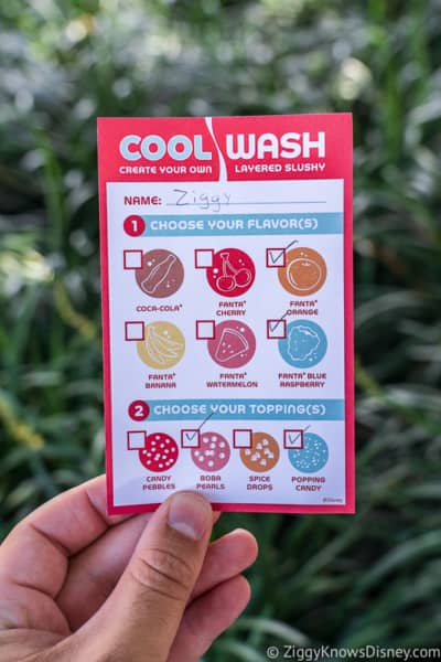order card Cool Wash 2019 Epcot Food and Wine Festival