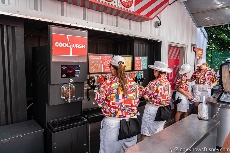 serving guests Cool Wash 2019 Epcot Food and Wine Festival