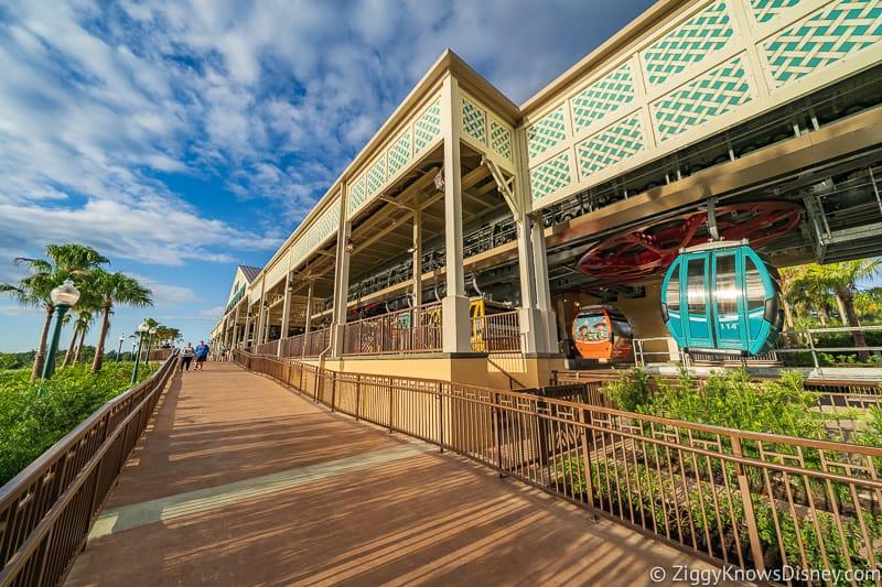 Disney Skyliner Gondola Stations Caribbean Beach Resort pathway