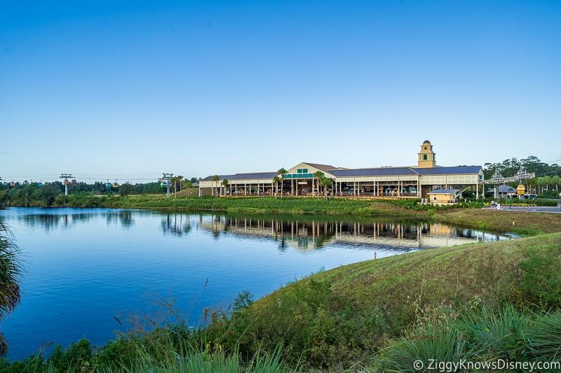 Disney Skyliner Gondola Stations Caribbean Beach Resort across the water