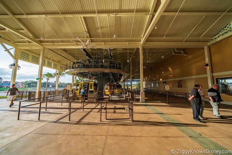 Disney Skyliner Gondola Stations Caribbean Beach Resort Pop Century/Art of Animation line