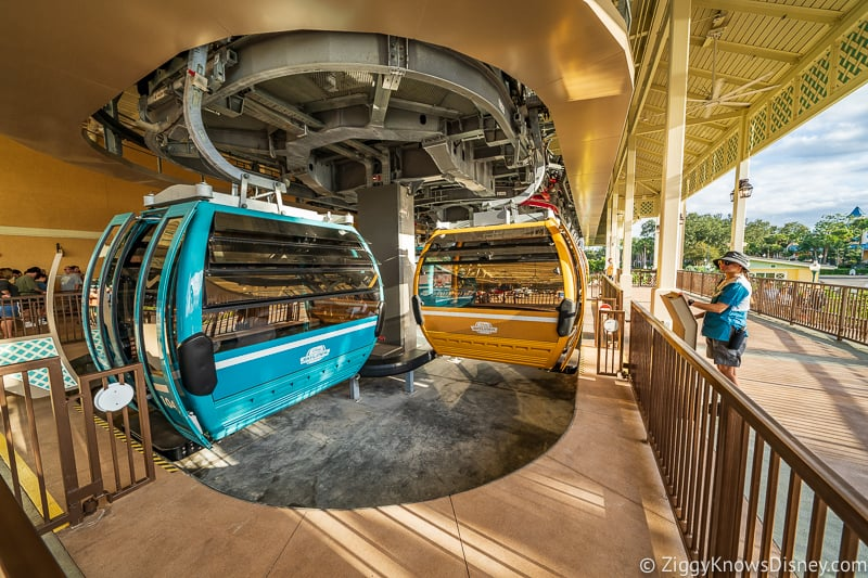 Disney Skyliner Gondola Stations Caribbean Beach Resort loading mobility devices