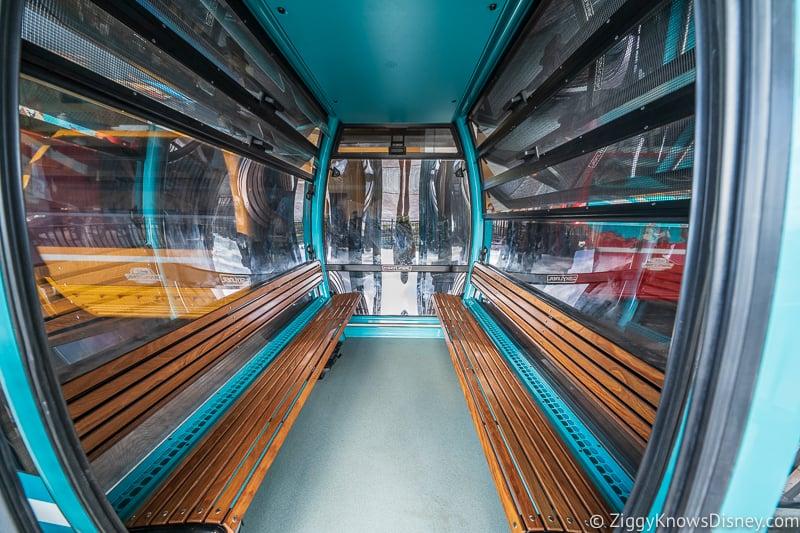 Disney Skyliner Gondola Car inside Caribbean Beach Resort
