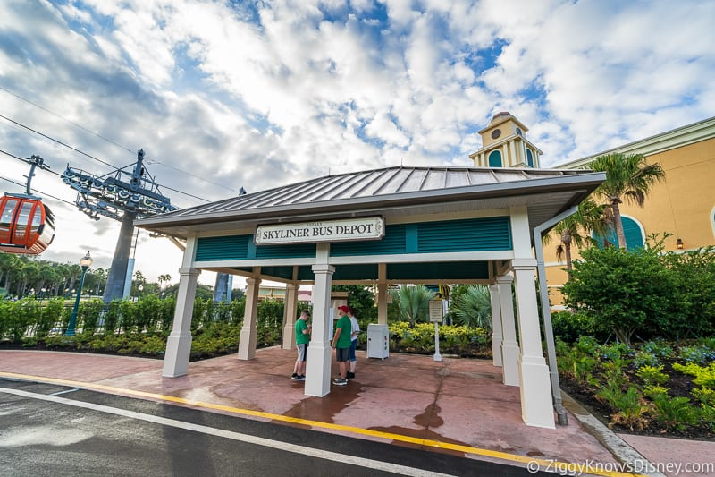 Disney Skyliner Gondola Stations Caribbean Beach Resort bus stop