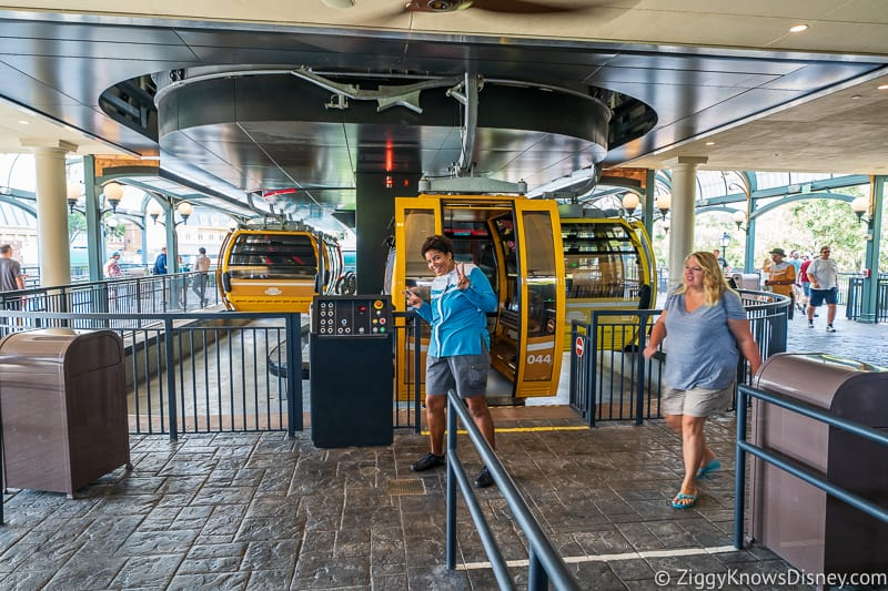 Disney Skyliner Gondola Epcot Station assisted mobility loading area