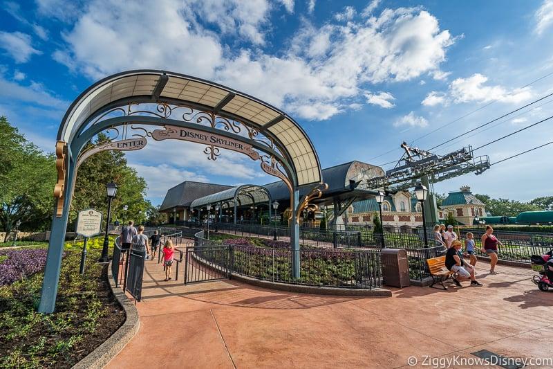 Disney Skyliner Gondola Epcot Station entrance