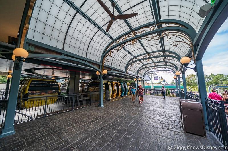 Disney Skyliner Gondola Epcot Station unloading area