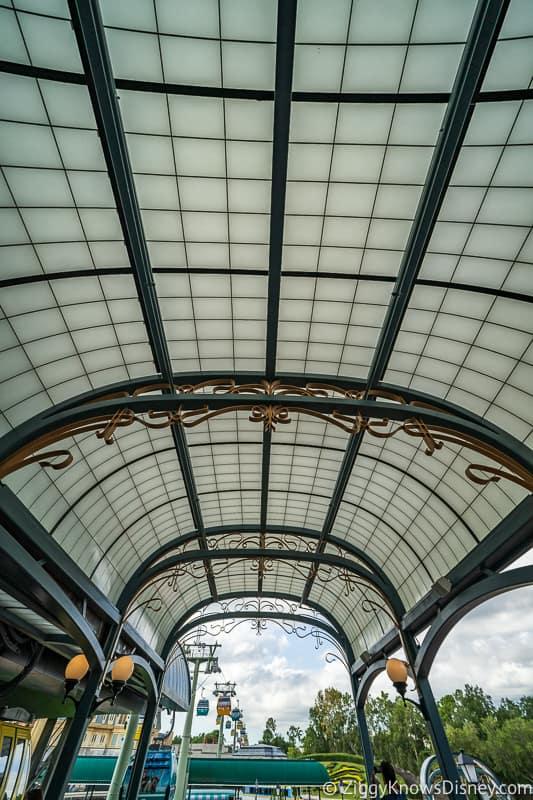 Disney Skyliner Gondola Epcot Station ceiling