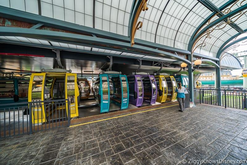 Disney Skyliner Gondola Epcot Station unloading