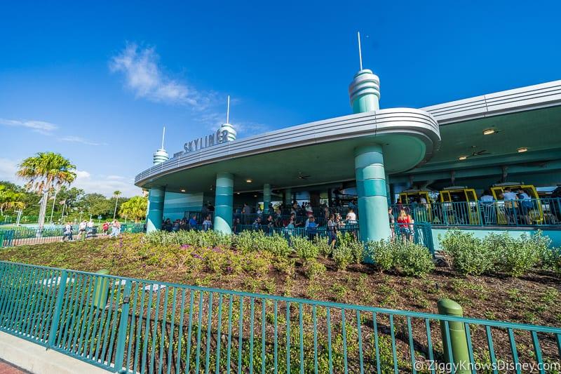 front of Disney Skyliner Gondola Stations Hollywood Studios