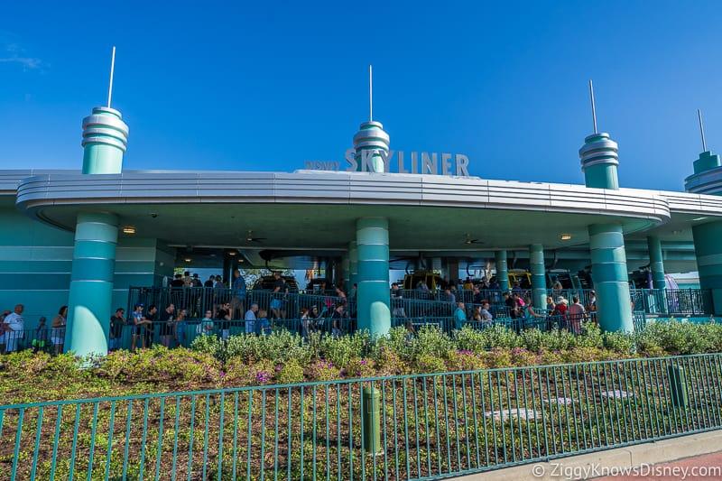 Disney Skyliner Gondola Stations Hollywood Studios front of building