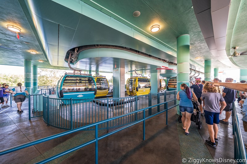 loading area for ECVs and wheelchairs Disney Skyliner Gondola Stations Hollywood Studios