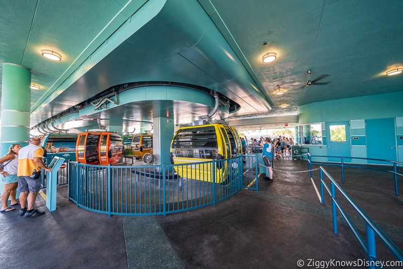 assisted loading area Disney Skyliner Gondola Stations Hollywood Studios