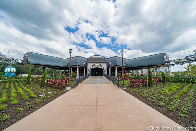 outside Disney Skyliner Gondola Station Riviera Resort