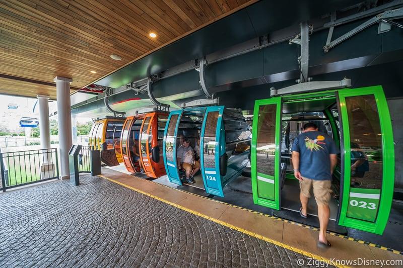 loading at Disney Skyliner Gondola Stations Riviera Resort