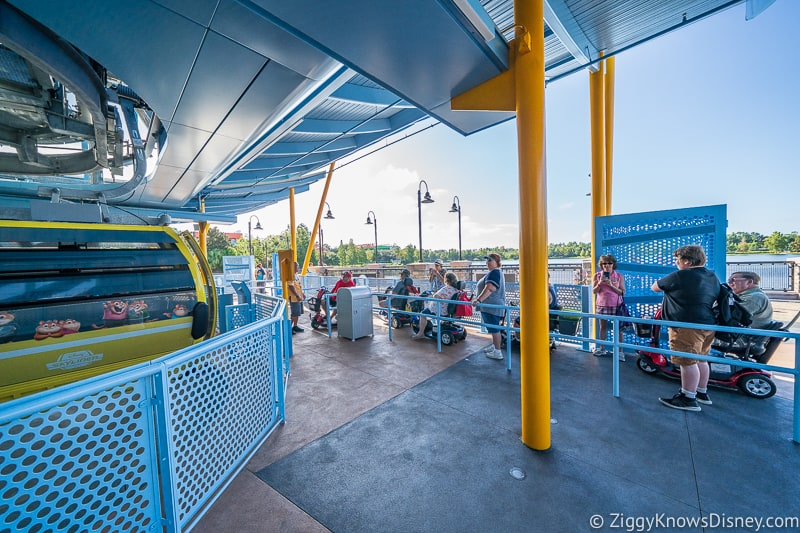 mobility assisted queue Disney Skyliner Gondola Stations Pop Century Art of Animation