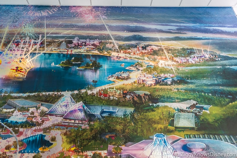 Epcot Experience Odyssey Epcot Mural World Showcase