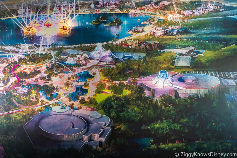 Epcot Experience Odyssey Epcot Mural Festical Center World Nature