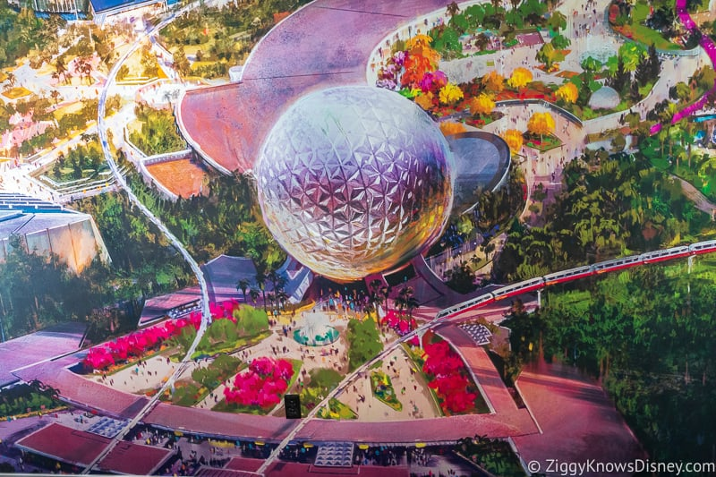Epcot Experience Odyssey Epcot Mural entrance