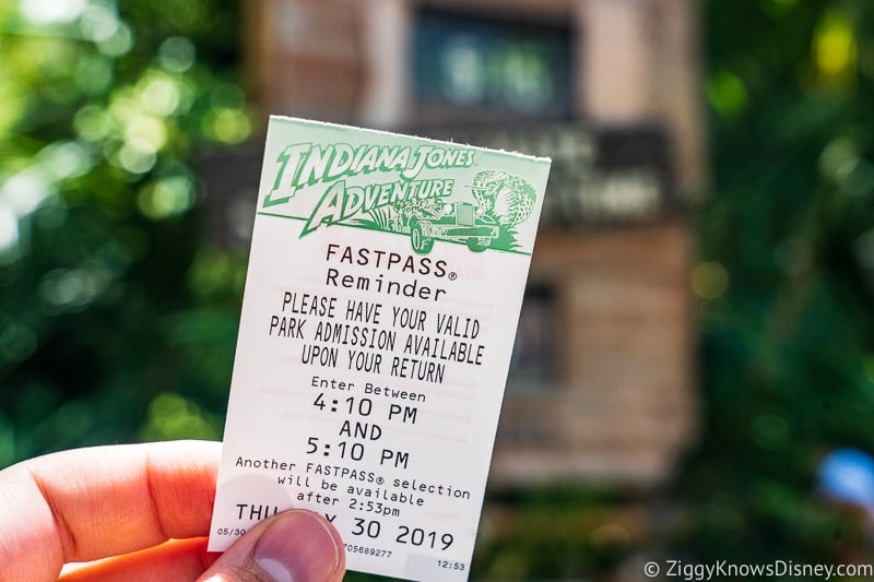 Disneyland FastPass Indiana Jones