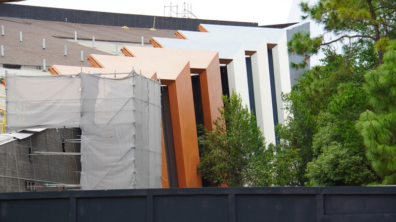 Guardians of the Galaxy Coaster side getting painted October 2019