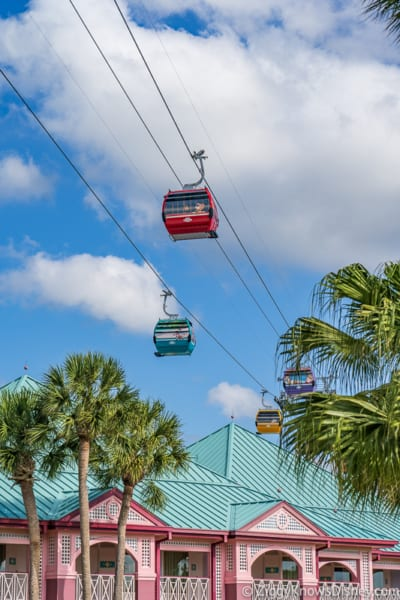 Disney World Skyliner Skyliner above Caribbean Beach Resort