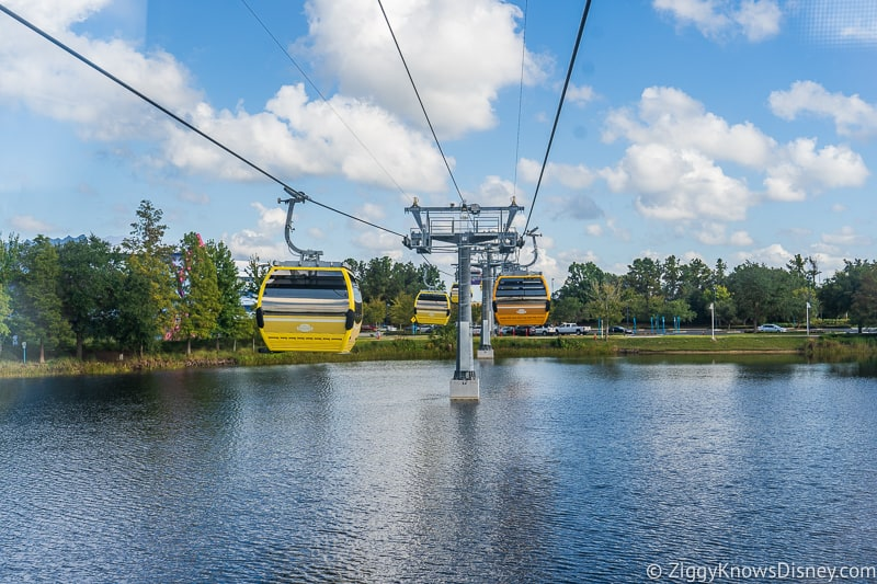 Disney Skyliner Gondolas over water