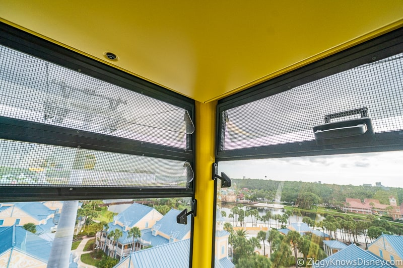 a look at the ventilation Inside the Disney Skyliner