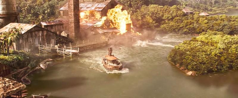 Disney's Jungle Cruise official Trailer burning ship