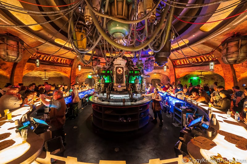 behind the bar at Oga's Cantina
