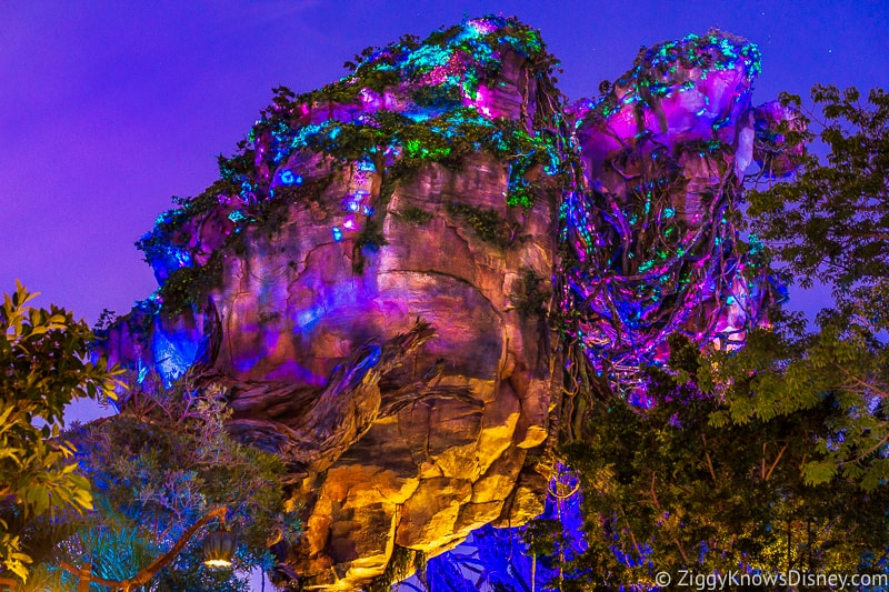 The Floating Mountains in Pandora the World of Avatar at night