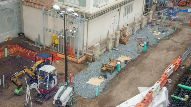 pre-existing utilities Ratatouille construction updates October 2019