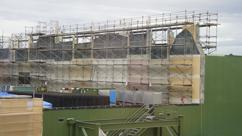 view of Ratatouille facade construction updates October 2019