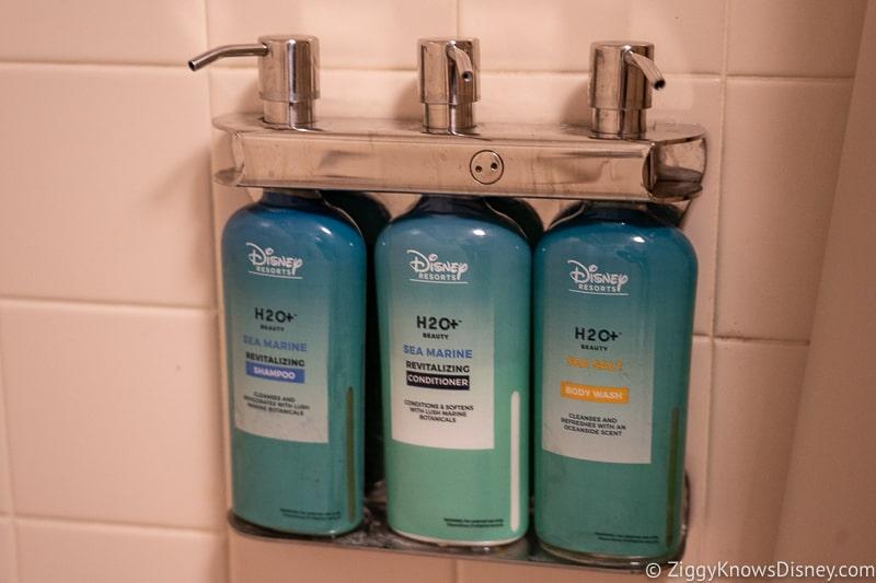 Refillable shampoo and soap bottles Disney World hotels