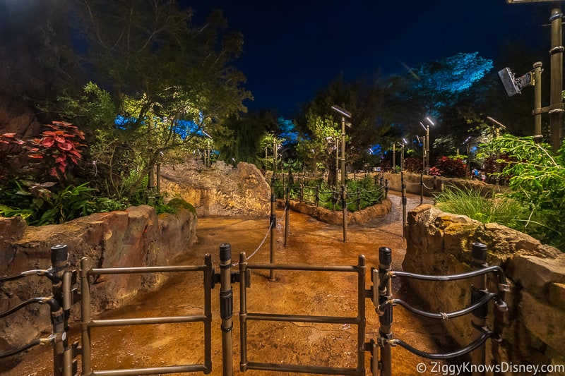 Rise of the Resistance queue Star Wars Galaxy's Edge at night