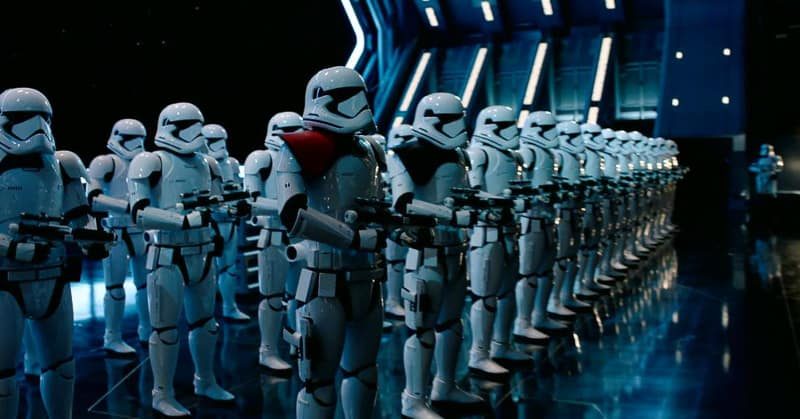 Star Wars Rise of the Resistance storm troopers