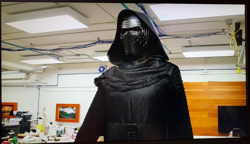 Kylo Ren animatronic in Star Wars Rise of the Resistance ride