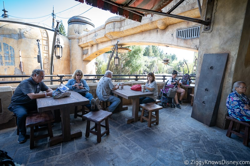 Ronto Roasters seating Star Wars Galaxy's Edge