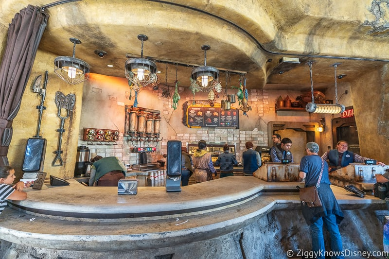 Ronto Roasters counter Star Wars Galaxy's Edge