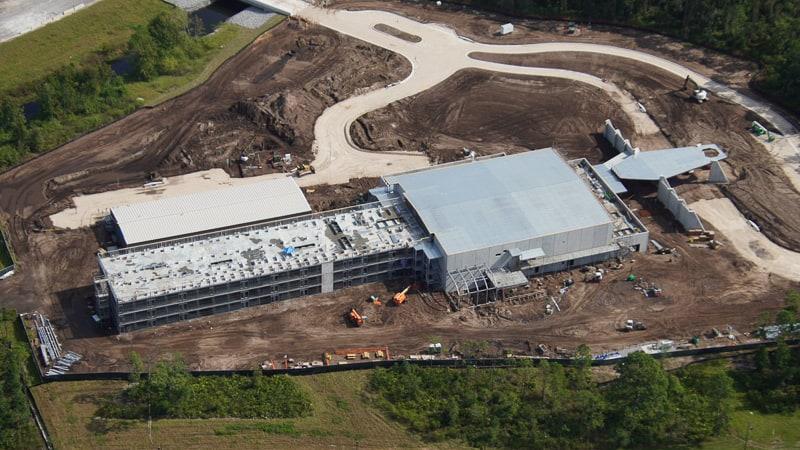 aerial of Star Wars hotel cabin side 2 under construction October 2019