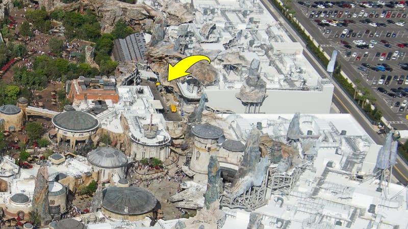 transport landing point Star Wars Hotel construction update October 2019