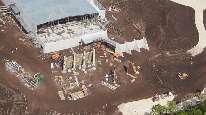entrance Star Wars Hotel construction update October 2019