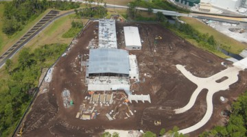 aerial Star Wars Hotel construction update October 2019