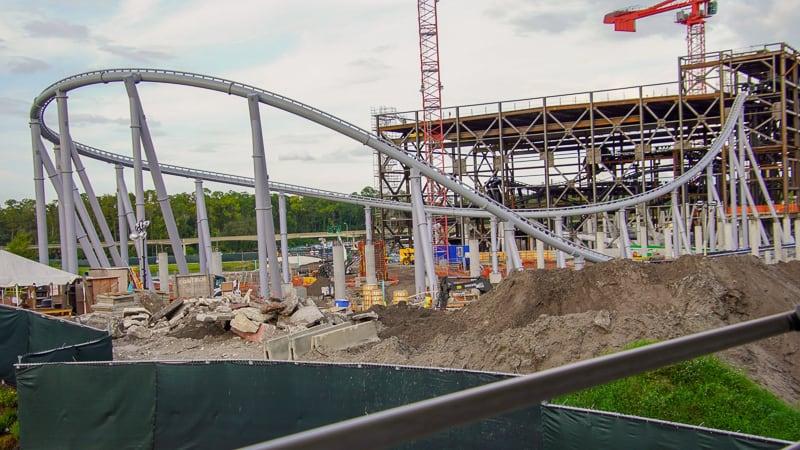 TRON Roller Coaster track loop November 2019
