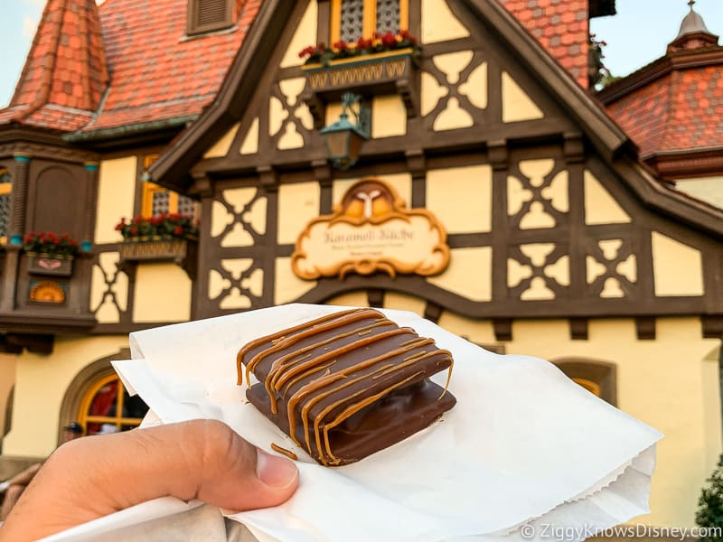Caramel S'mores Germany pavilion Best Snacks at Epcot