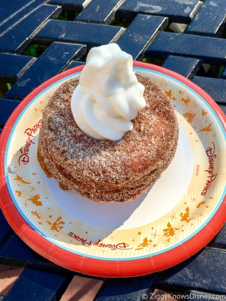 Cronut with ice cream Best Snacks at Epcot