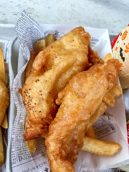 Fish and Chips Yorkshire County Fish Shop UK Best Snacks at Epcot