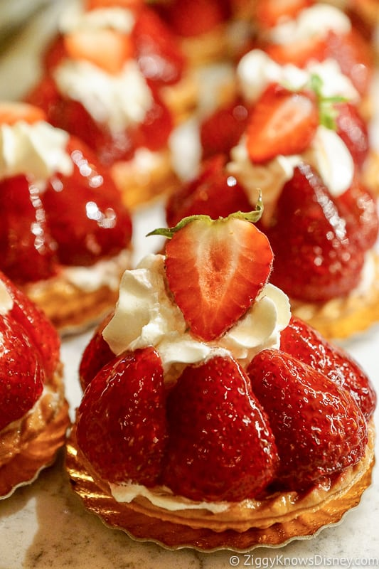 Fraises Strawberry tart France pavilion Best Snacks at Epcot