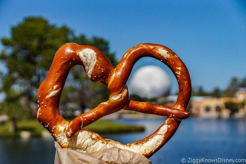 Giant Pretzel Germany pavilion Best Snacks at Epcot